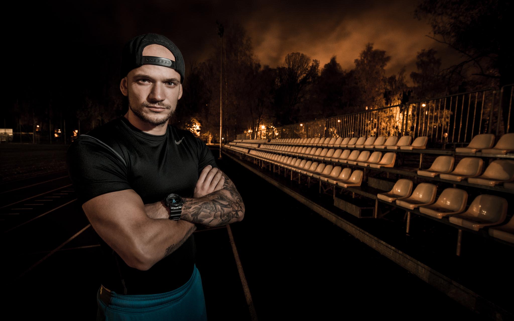 Fitnesa treneris Kristaps Ence
